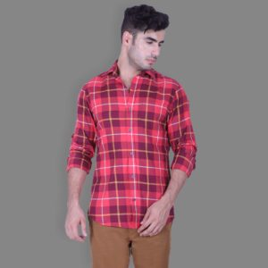 Primero Check Casual Button Down Shirt