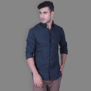 Black - Stretch Button Down Shirt